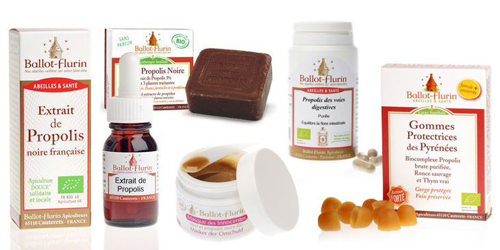 Apiterapeutiska hälsovårdsprodukter från Ballot-Flurin