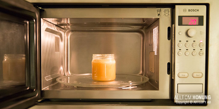 Värm honung i mikrovågsugn
