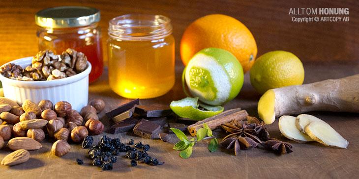 Smaksatt honung